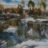 В. Тайдаков. Апрельский пруд