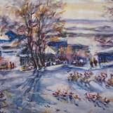 В. Тайдаков. Апрельские снегири 2011