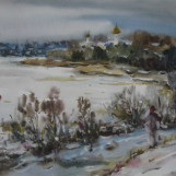В. Тайдаков. Февральский снег